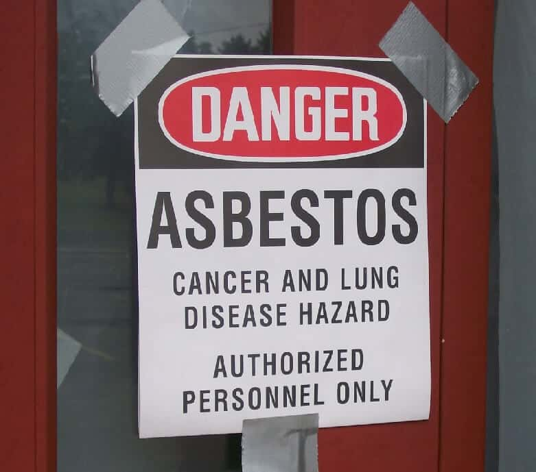 Danger asbestos cancer and lung disease hazard authorized personnel only