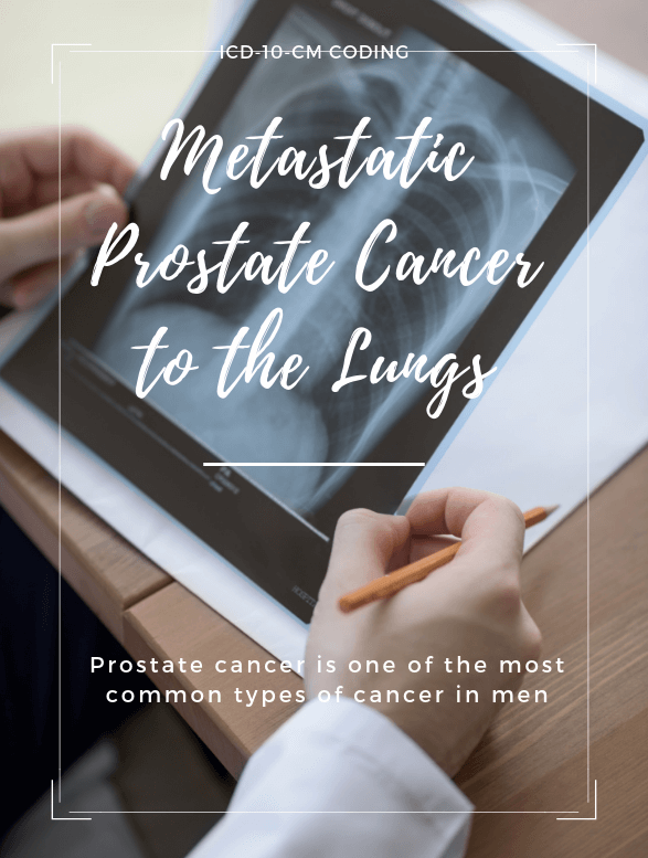 Metastatic prostate cancer to the lungs